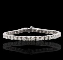14KT White Gold 4.54 ctw Diamond Tennis Bracelet