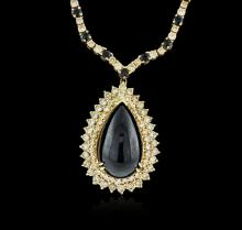 14-18KT Yellow Gold 37.95 ctw Sapphire and Diamond Necklace