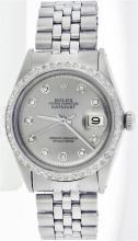 Rolex Stainless Steel 1.20 ctw Diamond DateJust Men's Watch