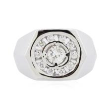 14KT White Gold 0.64ctw Diamond Ring