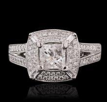 18KT White Gold 1.56ctw Diamond Ring