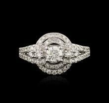 14KT White Gold 1.16ctw Diamond Ring