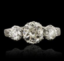 Platinum 1.21ct SI-1/H Diamond Ring