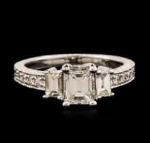 14KT White Gold EGL USA Certified 1.55ctw Diamond Ring