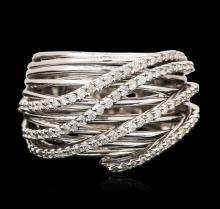 14KT White Gold 0.32ctw Diamond Ring