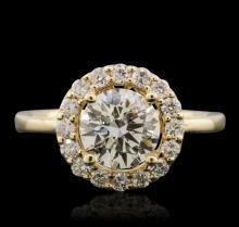 14KT Yellow Gold EGL Certified 2.00ctw Round Brilliant Cut Diamond Ring