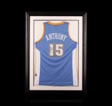 Carmelo Anthony Framed Autographed Jersey