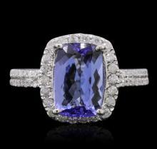 14KT White Gold 2.82ct Tanzanite and Diamond Ring
