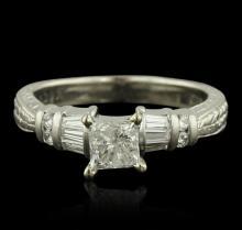 Platinum 1.01ctw Diamond Ring