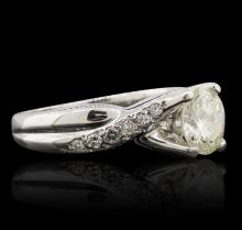 14KT White Gold 1.67ctw Diamond Ring