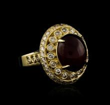 14KT Yellow Gold 9.58ct Ruby and Diamond Ring