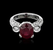 18KT White Gold 5.27ct Ruby and Diamond Ring