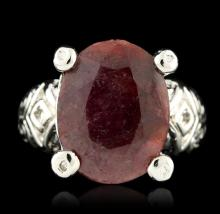 SILVER 9.00ct Ruby Ring
