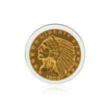 1909-D $5 Cu Indian Head Half Eagle Coin