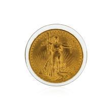 1908 $20 Cu St. Gaudens No Motto Double Eagle Coin