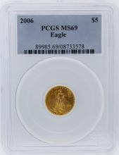 2006 PCGS Graded MS69 $5 American Eagle Gold Coin