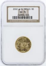2002-W NGC Graded MS70 Olympics $5 Commemorative Gold Coin