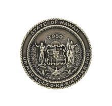 Hawaii Statehood Commemorative Silver Medallion August 21, 1959