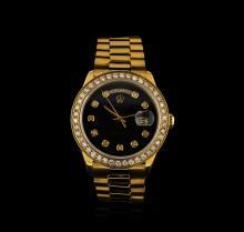 Rolex 18KT Yellow Gold 2.00ctw Diamond DayDate Men's Watch