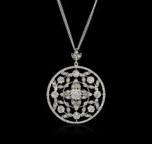 14KT White Gold 2.38ctw Diamond Pendant With Chain