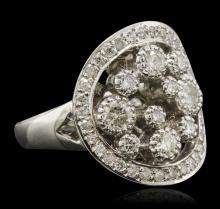 14KT White Gold 0.81ctw Diamond Ring