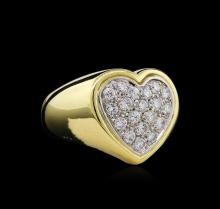 1.10ctw Diamond Ring - 18KT Two-Tone Gold