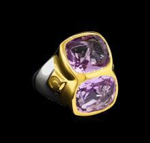 Crayola 8.90ctw Pink Amethyst Ring - .925 Silver