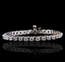 14KT White Gold 5.48ctw Diamond Bracelet