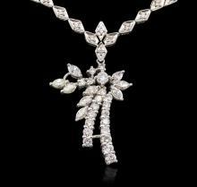 14KT White Gold 3.82ctw Diamond Necklace