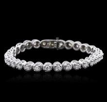 14KT White Gold 3.26ctw Diamond Tennis Bracelet