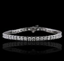 14KT White Gold 7.52ctw Diamond Bracelet