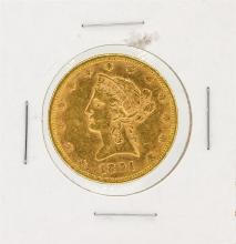 1891 $10 CU Liberty Head Eagle Gold Coin