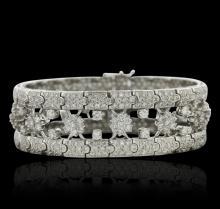 18KT White Gold 14.75ctw Diamond Bracelet
