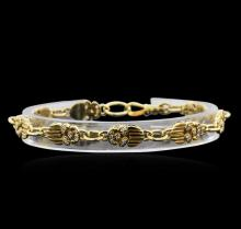 0.32ctw Diamond Bracelet - 18KT Yellow Gold