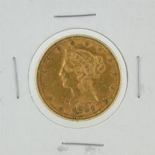 1884 $10 Liberty Head Eagle Coin
