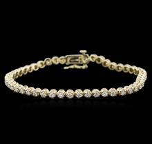 14KT Yellow Gold 2.00ctw Diamond Tennis Bracelet