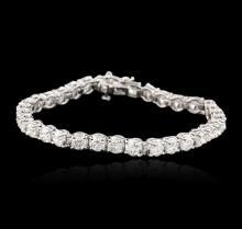 14KT White Gold 9.10ctw Diamond Tennis Bracelet