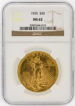 1925 NGC MS62 $20 St. Gaudens Double Eagle Gold Coin