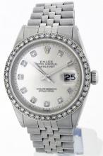 Rolex Stainless Steel 1.20ctw Diamond DateJust Men's Watch