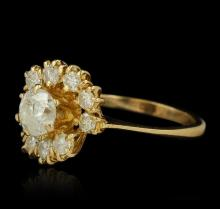 1.49ctw Diamond Ring - 18KT Yellow Gold