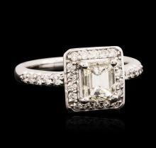 14KT White Gold EGL USA Certified 1.36ctw Diamond Ring