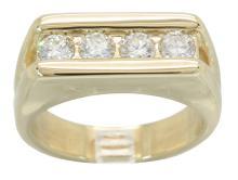 1.00ctw Diamond Ring - 14KT Yellow Gold