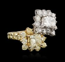 18KT Two-Tone Gold 3.55ctw Diamond Ring