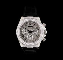 Rolex 18KT White Gold 4.00ctw Diamond Daytona Men's Watch