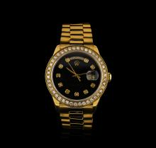 Rolex 18KT Yellow Gold 2.00ctw Diamond DayDate Men's Watch