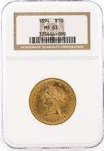 1894 NGC MS63 $10 Liberty Head Eagle Gold Coin