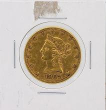 1907-S $10 VF Liberty Head Eagle Gold Coin
