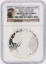 2012-S NGC Graded PF69 Ultra Cameo $1 American Silver Eagle Silver Coin