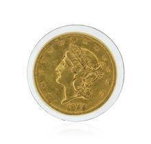 1855-S $20 VF Liberty Head Double Eagle Gold Coin