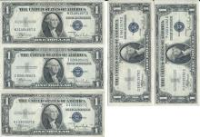 1935 $1 Silver Certificate Lot of 5